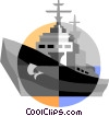 War ship Vector Clip Art picture