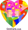 romance, two lovers Vector Clip Art picture