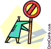human form with a stop sign Vector Clipart picture
