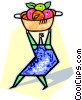 human form with a bowl of fruit Vector Clip Art image