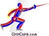 Man fencer Vector Clip Art graphic
