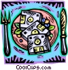 meal of information technology Vector Clipart image