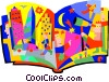 storybook, life in the city Vector Clip Art graphic