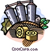 Vector Clip Art graphic  of an agricultural harvest with