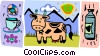 Vector Clip Art image  of a cow motif