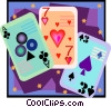 playing cards in decorative frame Vector Clipart image