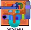 Symbol of a pipe Vector Clipart illustration