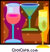 Vector Clip Art image  of a colorful beverage collection