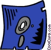 Vector Clip Art graphic  of a floppy diskette