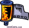 Vector Clip Art graphic  of a film canister