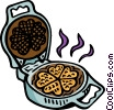 Vector Clipart graphic  of a waffle iron
