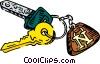 key chain Vector Clipart illustration
