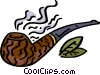 pipe and tobacco Vector Clipart picture