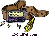 belt with beeper Vector Clipart picture