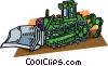 steam shovel with trench digger Vector Clip Art image