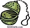 Vector Clipart graphic  of a tea ball