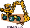 Vector Clip Art picture  of a front-end loader