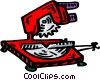 Vector Clipart image  of a table saw