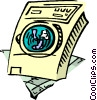 clothes dryer Vector Clipart graphic