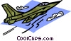 Vector Clip Art image  of a military fighter jet