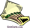 Vector Clip Art picture  of a book of matches