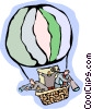 Vector Clipart image  of a hot air balloon