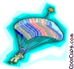 Vector Clipart graphic  of a paragliding