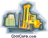 forklift truck, warehouse, cargo Vector Clipart picture