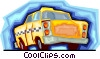 taxicab Vector Clipart illustration