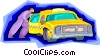 Vector Clip Art picture  of a taxicab