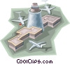 Airport terminal Vector Clipart illustration