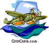 float plane Vector Clip Art picture
