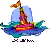 buoy, floating channel marker Vector Clipart image