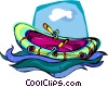 Vector Clipart illustration  of a rubber dingy