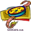 Vector Clipart picture  of a compass