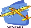 Vector Clip Art graphic  of a Glider