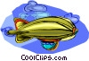 Vector Clipart graphic  of a dirigible