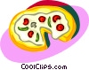 Vector Clipart graphic  of a pizza