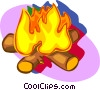 Vector Clip Art graphic  of a camp fire