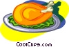 cooked chicken Vector Clipart image