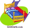 Vector Clip Art graphic  of a double bed