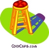 bar stool, chair Vector Clipart picture
