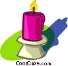 candle Vector Clipart graphic