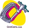 Vector Clipart graphic  of a c-clamp