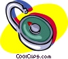 combination lock Vector Clipart picture