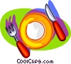 Vector Clipart picture  of a nice place setting