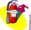 Vector Clipart image  of a fire extinguisher