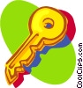 Vector Clipart graphic  of a gold key