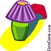 Vector Clip Art graphic  of a desk lamp