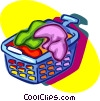 Vector Clip Art graphic  of a laundry hamper